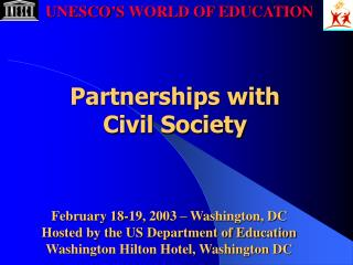 February 18-19, 2003 – Washington, DC Hosted by the US Department of Education