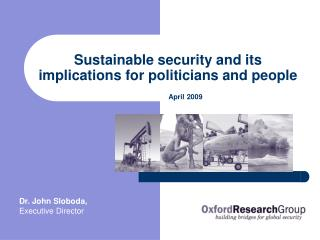 Sustainable security and its implications for politicians and people
