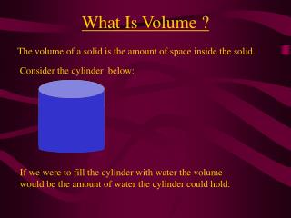What Is Volume ?