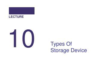 Types Of Storage Device