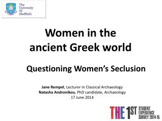 Women in the ancient Greek world