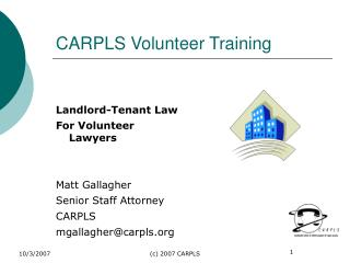 CARPLS Volunteer Training