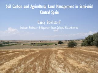 Soil Carbon and Agricultural Land Management in Semi-Arid Central Spain