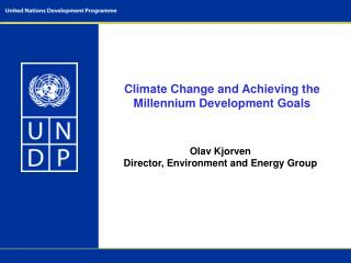 Climate Change and Achieving the Millennium Development Goals