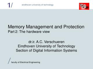 Memory Management and Protection Part 2: The hardware view