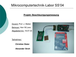 Mikrocomputertechnik-Labor SS'04