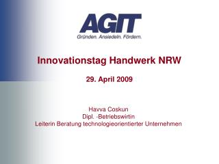 Innovationstag Handwerk NRW 29. April 2009