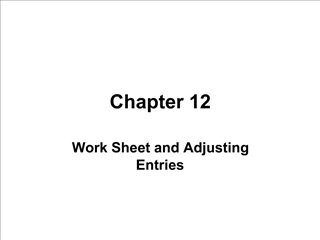 Work Sheet and Adjusting Entries