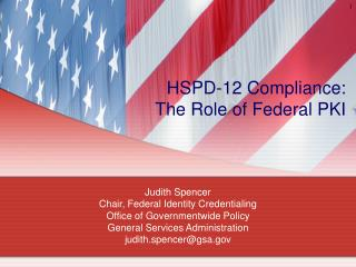 HSPD-12 Compliance: The Role of Federal PKI