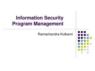 Information Security Program Management