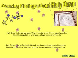 Amazing Findings about Holly Quran