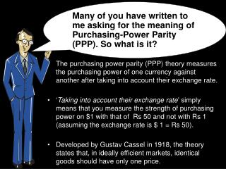 Understanding the purchasing-power parity i.e. PPP Theory –  By Prof.  Simply  Simple