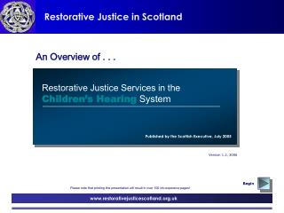 Restorative Justice in Scotland