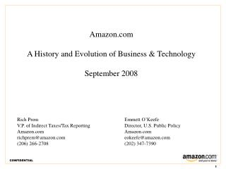 Amazon.com A History and Evolution of Business & Technology September 2008