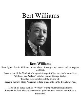 Bert Williams