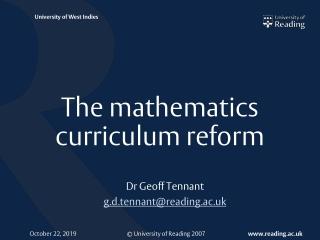 The mathematics curriculum reform