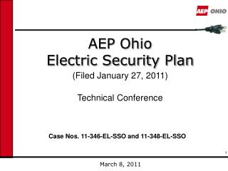 AEP Ohio  Electric Security Plan