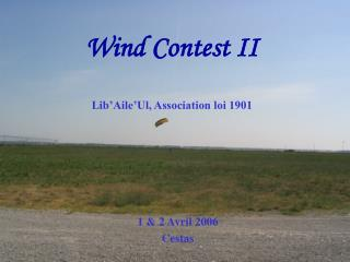 Wind Contest II