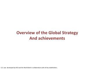Overview of the Global Strategy And achievements
