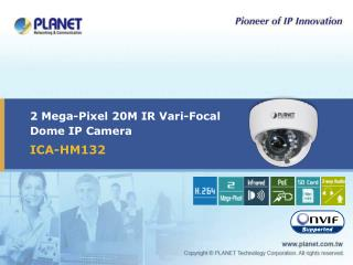 2 Mega-Pixel 20M IR Vari-Focal Dome IP Camera