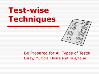 Test-wise Techniques