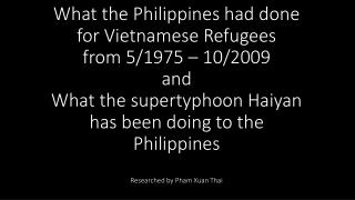 Estimate over half million refugees stayed at Palawan from 1979 until late 1993.