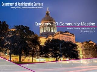 Quarterly HR Community Meeting