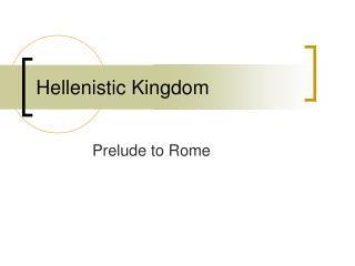 Hellenistic Kingdom