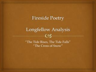 Fireside Poetry Longfellow Analysis