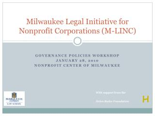 Milwaukee Legal Initiative for Nonprofit Corporations (M-LINC)