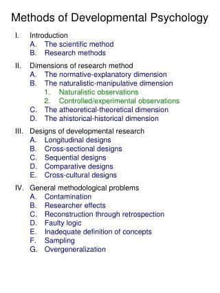 Methods of Developmental Psychology