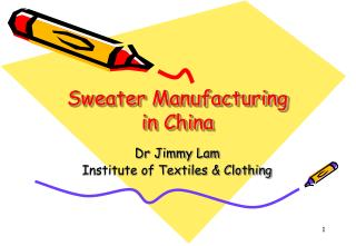 Sweater Manufacturing in China