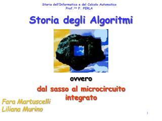Storia degli Algoritmi