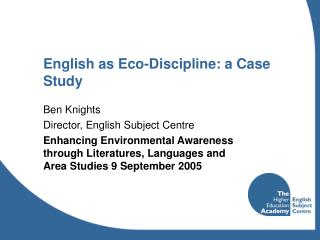 English as Eco-Discipline: a Case Study