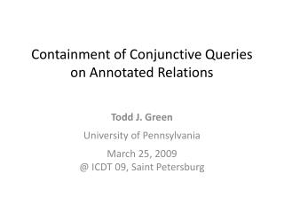 Containment of Conjunctive Queries on Annotated Relations
