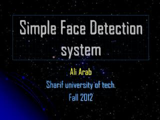 Simple Face Detection system