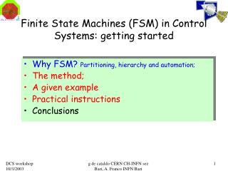 Finite State Machines (FSM) in Control Systems: getting started