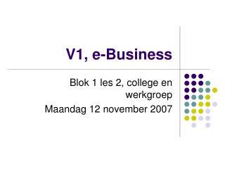 V1, e-Business