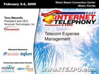 Tony Mazzullo President and CEO Veramark Technologies, Inc