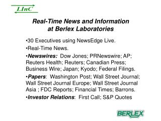 Real-Time News and Information at Berlex Laboratories