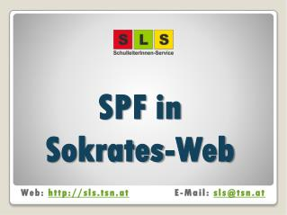 SPF in  Sokrates-Web