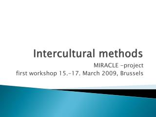 Intercultural methods