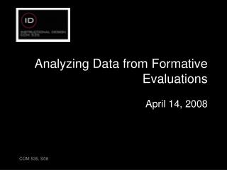 Analyzing Data from Formative Evaluations