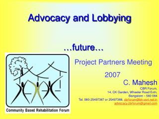 Advocacy and Lobbying