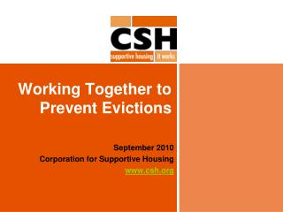 Working Together to Prevent Evictions