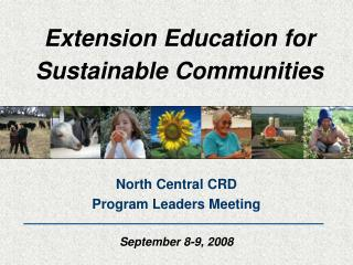 Extension Education for Sustainable Communities