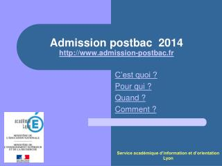 Admission postbac 2014 admission-postbac.fr