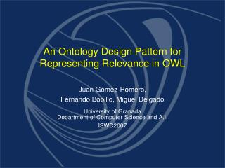An Ontology Design Pattern for Representing Relevance in OWL