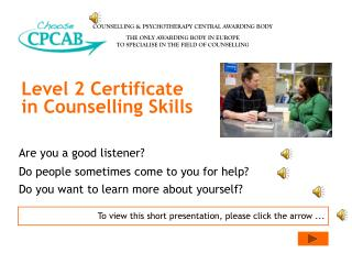 Level 2 Certificate in Counselling Skills