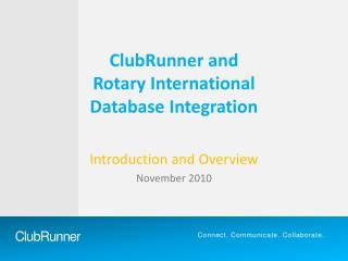 ClubRunner and Rotary International Database Integration